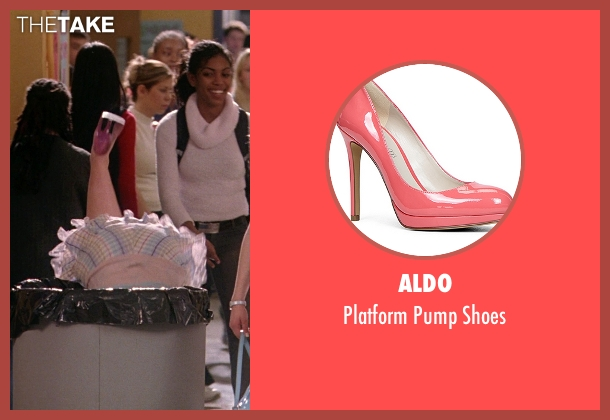Aldo pink shoes from Mean Girls seen with Lindsay Lohan (Cady Heron)