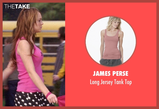 James Perse pink top from Mean Girls seen with Lindsay Lohan (Cady Heron)