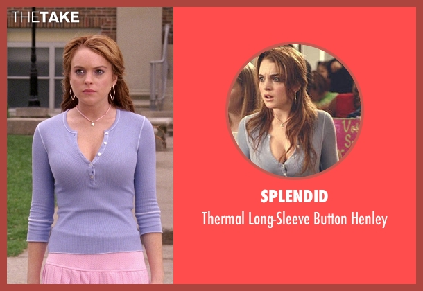 Splendid purple henley from Mean Girls seen with Lindsay Lohan (Cady Heron)