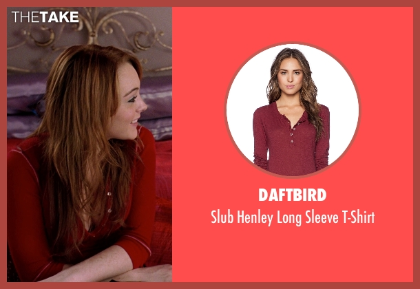 Daftbird red t-shirt from Mean Girls seen with Lindsay Lohan (Cady Heron)
