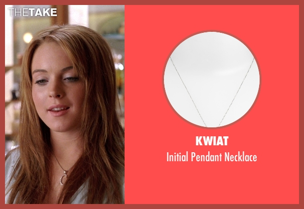Kwiat silver necklace from Mean Girls seen with Lindsay Lohan (Cady Heron)