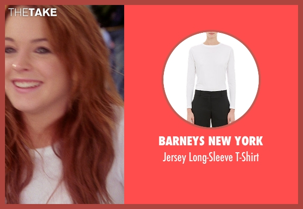 Barneys New York white t-shirt from Mean Girls seen with Lindsay Lohan (Cady Heron)