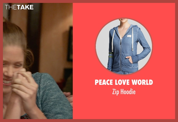 Peace Love World blue hoodie from Ricki and the Flash seen with Lisa Joyce (Unknown Character)