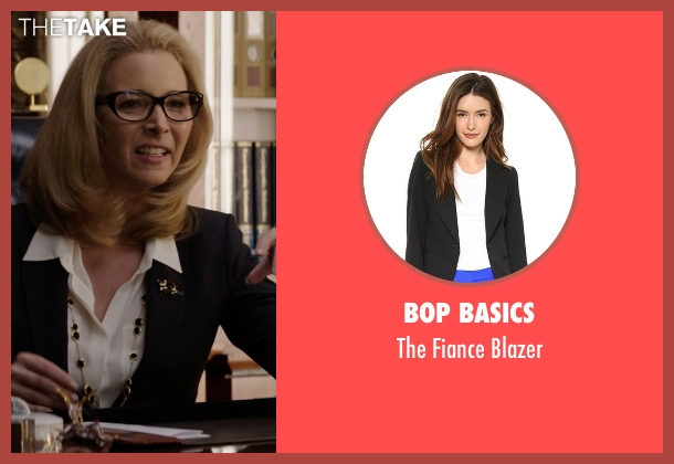 Bop Basics black blazer from Neighbors seen with Lisa Kudrow (Dean Carol Gladstone)