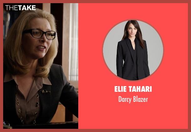 Elie Tahari black blazer from Neighbors seen with Lisa Kudrow (Dean Carol Gladstone)