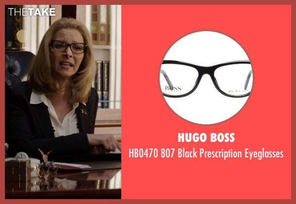Hugo Boss black eyeglasses from Neighbors seen with Lisa Kudrow (Dean Carol Gladstone)