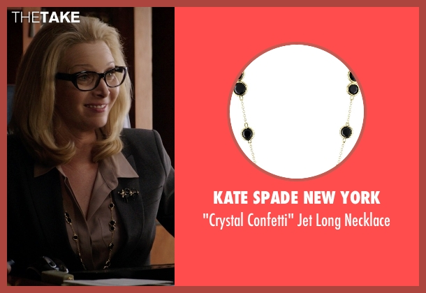Kate Spade New York black necklace from Neighbors seen with Lisa Kudrow (Dean Carol Gladstone)