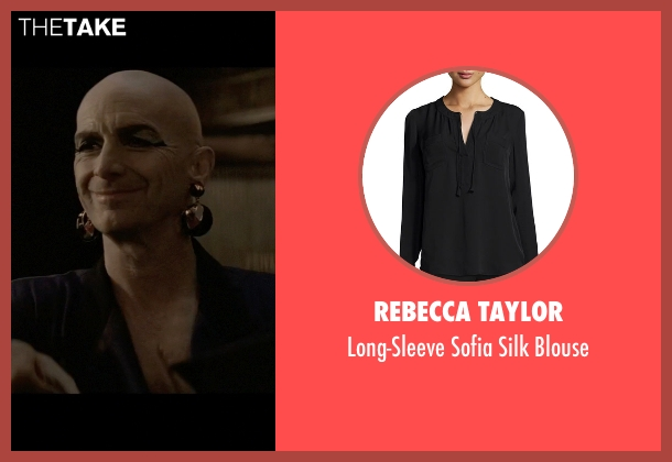 Rebecca Taylor black blouse from American Horror Story seen with Liz Taylor (Denis O'Hare)