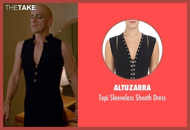 Altuzarra black dress from American Horror Story seen with Liz Taylor (Denis O'Hare)