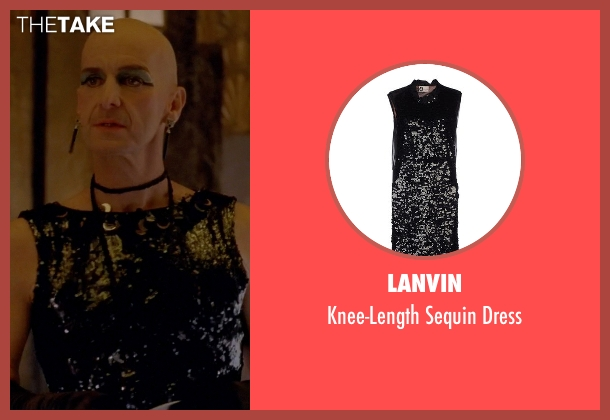 Lanvin black dress from American Horror Story seen with Liz Taylor (Denis O'Hare)