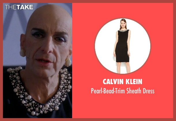 Calvin Klein black dress from American Horror Story seen with Liz Taylor (Denis O'Hare)