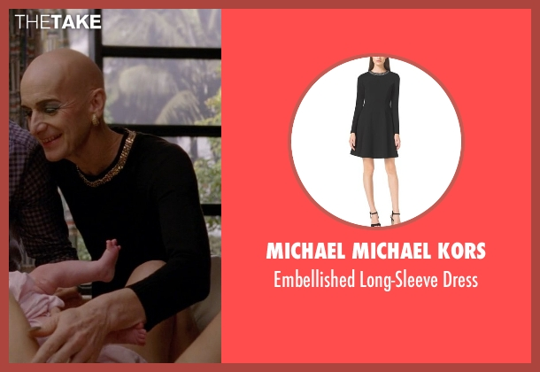 Michael Michael Kors black dress from American Horror Story seen with Liz Taylor (Denis O'Hare)
