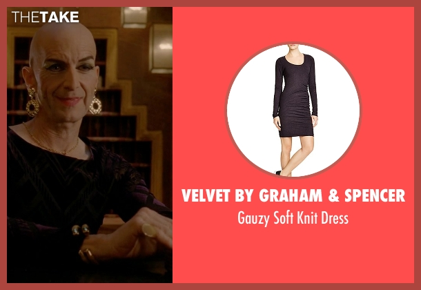Velvet by Graham & Spencer black dress from American Horror Story seen with Liz Taylor (Denis O'Hare)