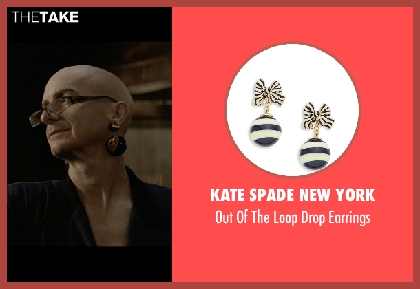Kate Spade New York black earrings from American Horror Story seen with Liz Taylor (Denis O'Hare)