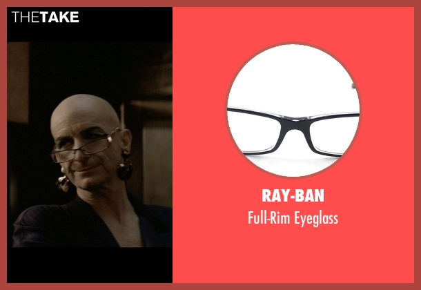 Ray-Ban black eyeglass from American Horror Story seen with Liz Taylor (Denis O'Hare)