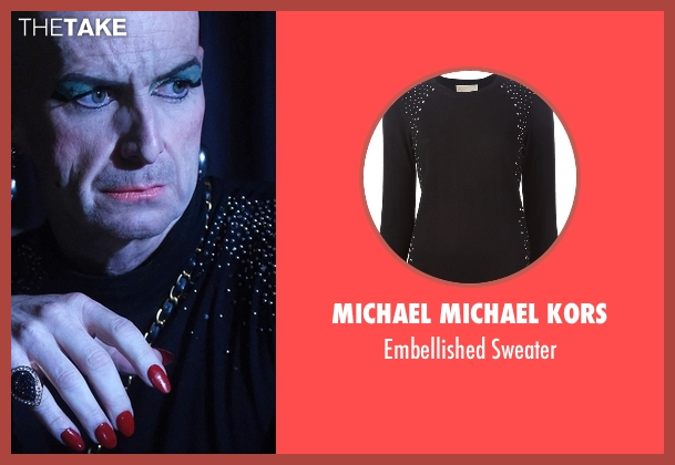 Michael Michael Kors black sweater from American Horror Story seen with Liz Taylor (Denis O'Hare)