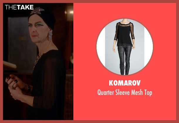 Komarov black top from American Horror Story seen with Liz Taylor (Denis O'Hare)