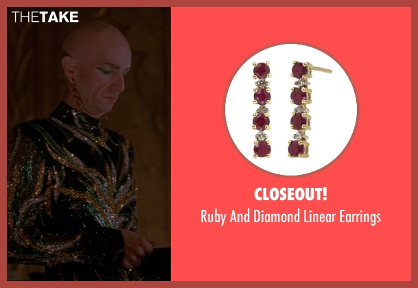 Closeout! gold earrings from American Horror Story seen with Liz Taylor (Denis O'Hare)