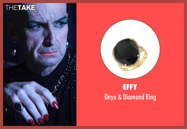 Effy gold ring from American Horror Story seen with Liz Taylor (Denis O'Hare)