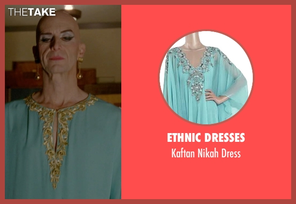 Ethnic Dresses green dress from American Horror Story seen with Liz Taylor (Denis O'Hare)