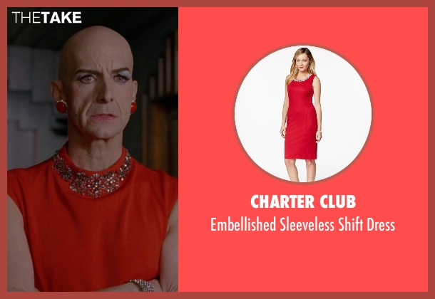 Charter Club red dress from American Horror Story seen with Liz Taylor (Denis O'Hare)