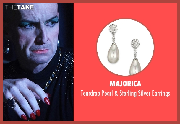 Majorica silver earrings from American Horror Story seen with Liz Taylor (Denis O'Hare)