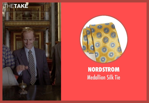 Nordstrom yellow tie from American Horror Story seen with Liz Taylor (Denis O'Hare)