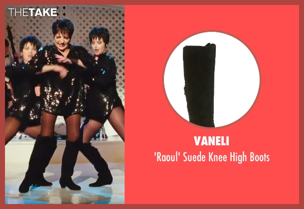 Vaneli black boots from Sex and the City 2 seen with Liza Minnelli