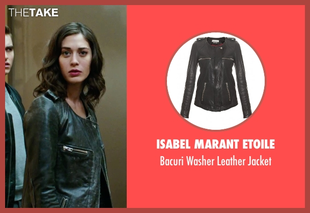 Isabel Marant Etoile black jacket from Now You See Me 2 seen with Lizzy Caplan (Lula)