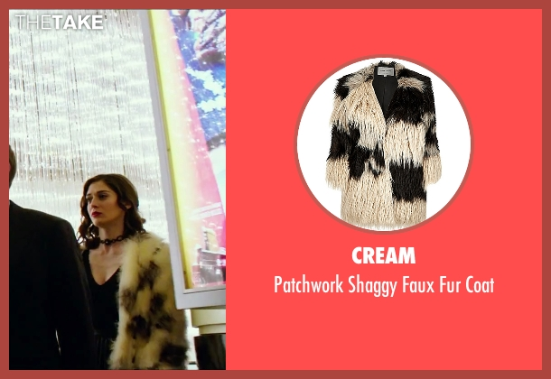 Cream white coat from Now You See Me 2 seen with Lizzy Caplan (Lula)