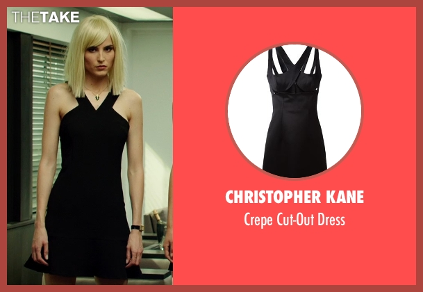 Christopher Kane black dress from The Transporter: Refueled seen with Loan Chabanol (Anna)