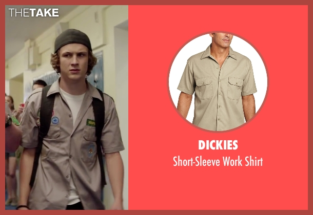 Dickies brown shirt from Scout's Guide to the Zombie Apocalypse seen with Logan Miller (Carter)