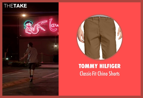 Tommy Hilfiger brown shorts from Scout's Guide to the Zombie Apocalypse seen with Logan Miller (Carter)