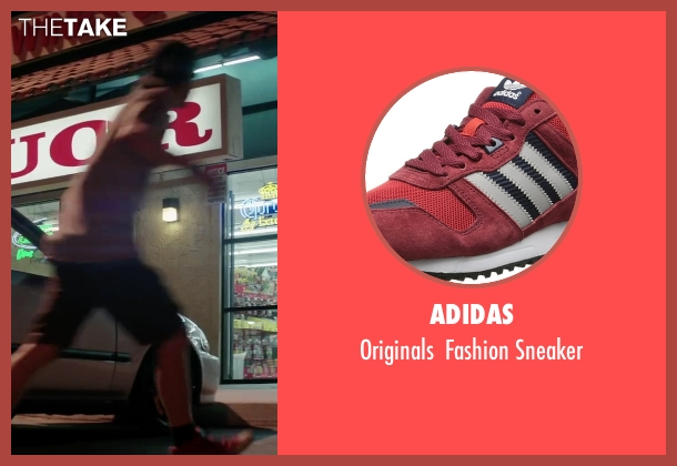 Adidas red sneaker from Scout's Guide to the Zombie Apocalypse seen with Logan Miller (Carter)