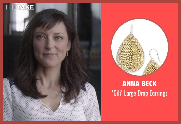Anna Beck gold earrings from That Awkward Moment seen with Lola Glaudini (Female Boss (Sharon))