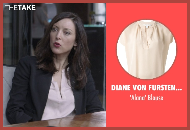 Diane Von Furstenberg pink blouse from That Awkward Moment seen with Lola Glaudini (Female Boss (Sharon))