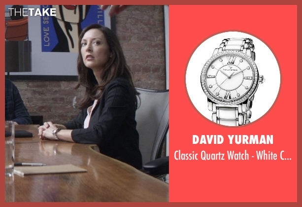 David Yurman silver ceramic from That Awkward Moment seen with Lola Glaudini (Female Boss (Sharon))