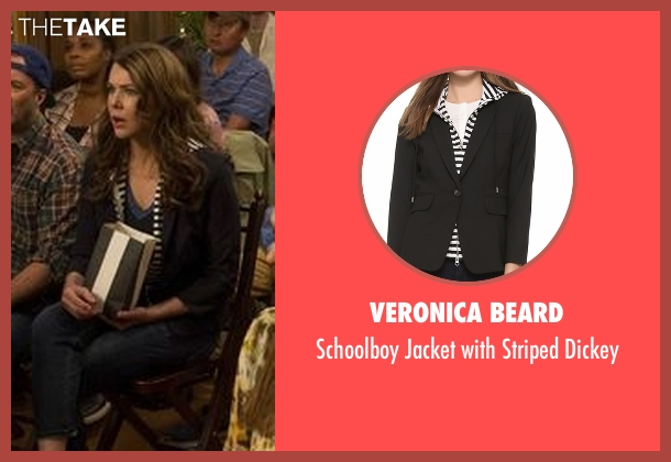 Veronica Beard black dickey from Gilmore Girls: A Year in the Life seen with Lorelai Gilmore (Lauren Graham)