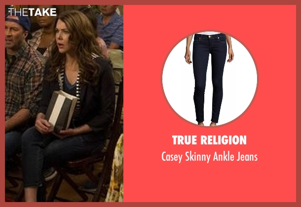 True Religion blue jeans from Gilmore Girls: A Year in the Life seen with Lorelai Gilmore (Lauren Graham)