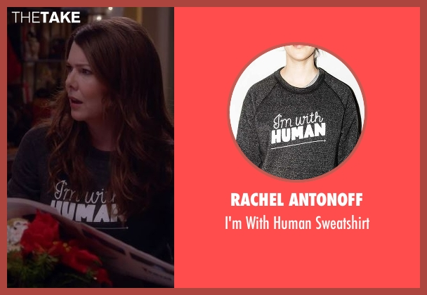 Rachel Antonoff gray sweatshirt from Gilmore Girls: A Year in the Life seen with Lorelai Gilmore (Lauren Graham)