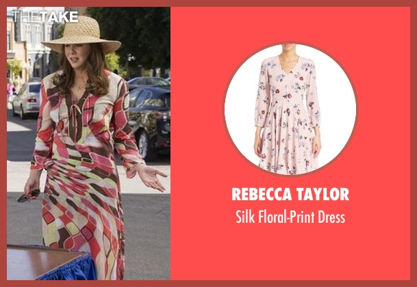 Rebecca Taylor pink dress from Gilmore Girls: A Year in the Life seen with Lorelai Gilmore (Lauren Graham)