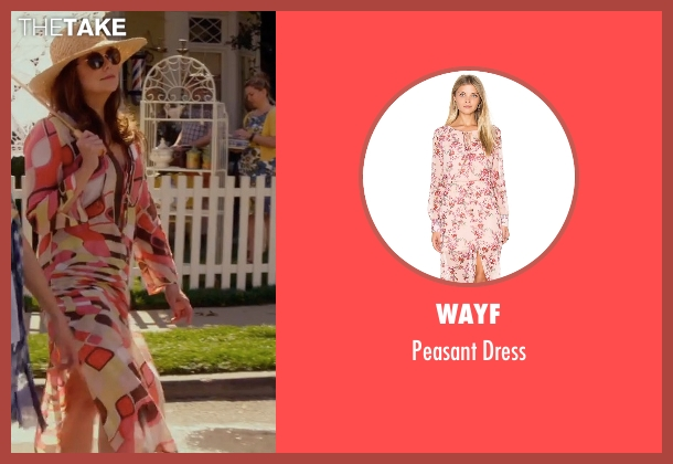 Wayf pink dress from Gilmore Girls: A Year in the Life seen with Lorelai Gilmore (Lauren Graham)