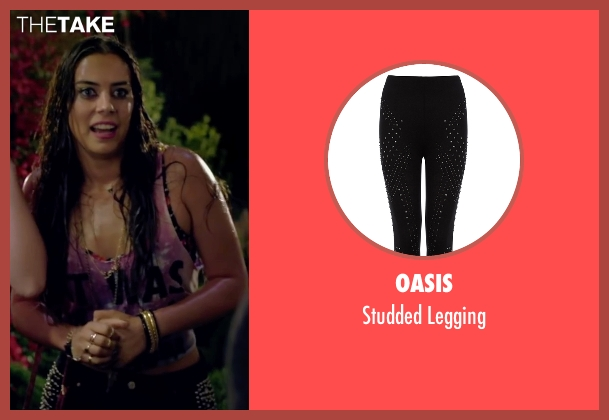 Oasis black legging from Knock Knock seen with Lorenza Izzo (Genesis)