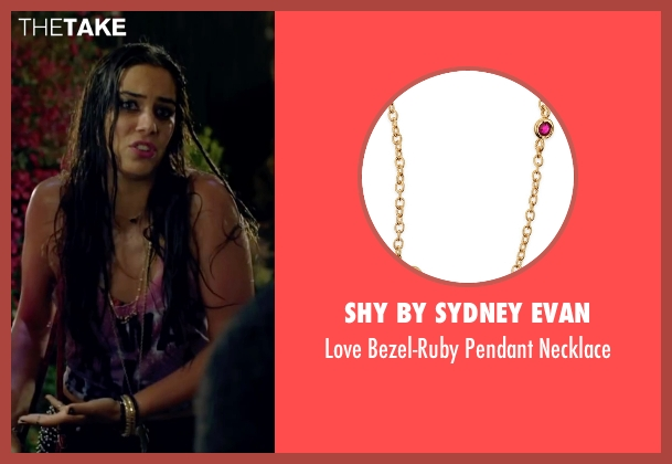 Shy By Sydney Evan gold necklace from Knock Knock seen with Lorenza Izzo (Genesis)