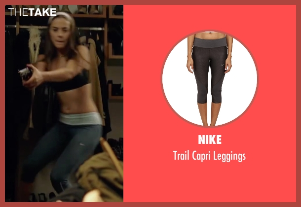 Nike gray leggings from Knock Knock seen with Lorenza Izzo (Genesis)