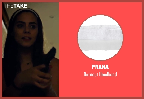 Prana white headband from Knock Knock seen with Lorenza Izzo (Genesis)