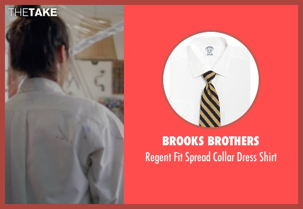 Brooks Brothers white shirt from Knock Knock seen with Lorenza Izzo (Genesis)
