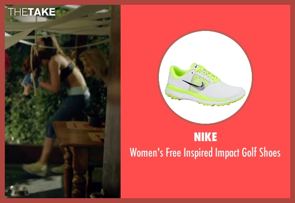 Nike white shoes from Knock Knock seen with Lorenza Izzo (Genesis)