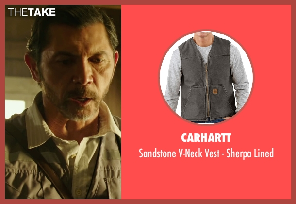 Carhartt gray lined from The 33 seen with Lou Diamond Phillips (Luis Urzua 'Don Lucho')
