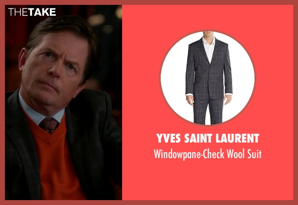 Yves Saint Laurent black suit from The Good Wife seen with Louis Canning (Michael J. Fox)